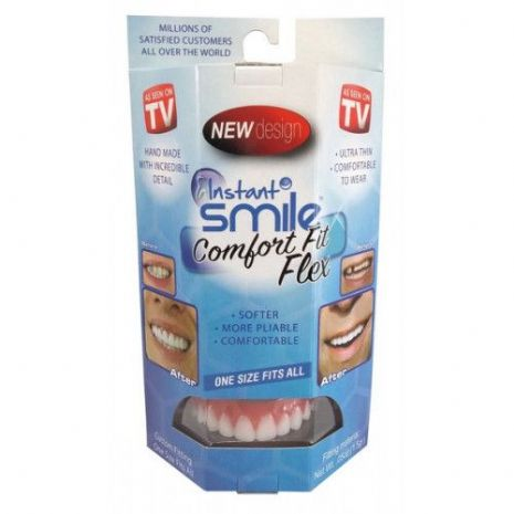 Fake False Teeth Joke Novelty Instant Smile Comfort Fit Gag Trick Novelty